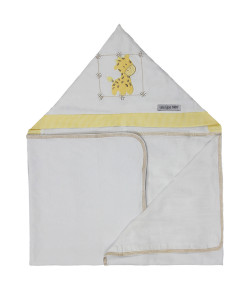 Toalha de Banho Lala Lipe Baby Malha Girafa Amarela - TBC4060