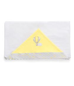 Toalha de Banho Hug Sunshine Off White e Amarelo - E11315