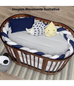 Kit Berço Batistela Baby Trança 5 Peças Azul Marinho - 10097