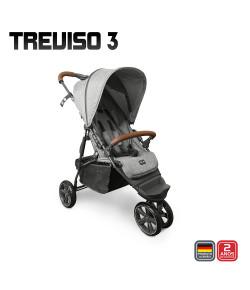 Carrinho de Bebê ABC Design Treviso 3 Detalhe em Couro Woven Grey