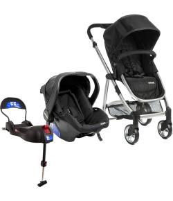 Carrinho de Bebê Travel System Infanti Epic Lite Trio Onyx + Base Isofix